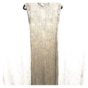 Anthro Shimmery Gold & Silver Long Dress